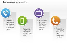 Phone Touchscreen Mobile Television Handle Ppt Icons Graphics