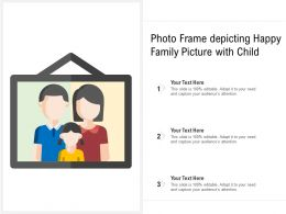 Photo Frame Depicting Happy Family Picture With Child