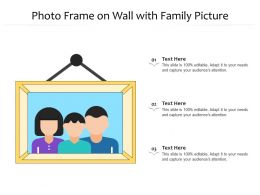 Photo Frame On Wall With Family Picture