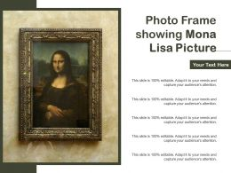 Photo Frame Showing Mona Lisa Picture