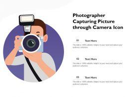 Photographer Capturing Picture Through Camera Icon
