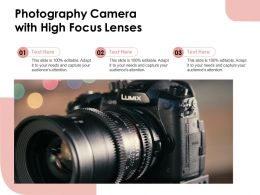 Photography Camera With High Focus Lenses