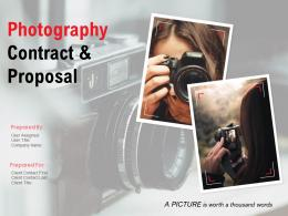 Photography Contract And Proposal Template Powerpoint Presentation Slides