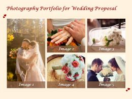 Photography Portfolio For Wedding Proposal Ppt Powerpoint Presentation Professional Guidelines