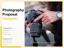 Photography Proposal Template Powerpoint Presentation Slides
