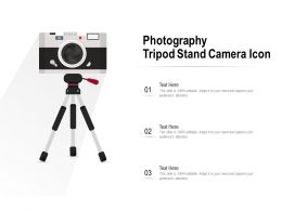 Photography Tripod Stand Camera Icon