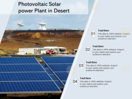 Photovoltaic Solar Power Plant In Desert