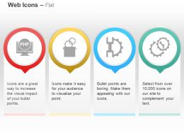 Php Development Process Control Gears Service Ppt Icons Graphics
