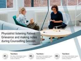 Physiatrist Listening Patient Grievance And Making Notes During Counselling Session