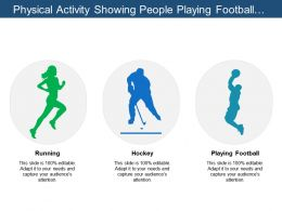 Physical Activity Showing People Playing Football And Badminton