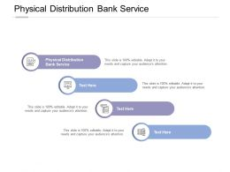 Physical Distribution Bank Service Ppt Powerpoint Presentation Inspiration Grid Cpb