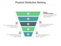 Physical Distribution Banking Ppt Powerpoint Presentation Gallery Layout Cpb