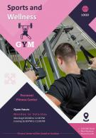 Physical Fitness And Sports Four Page Brochure Template