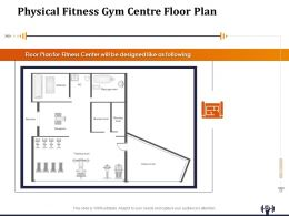 Physical Fitness Gym Centre Floor Plan Ppt Powerpoint Presentation File Clipart