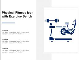 Physical Fitness Icon With Exercise Bench