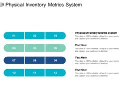 Physical Inventory Metrics System Ppt Powerpoint Presentation Inspiration Background Designs Cpb