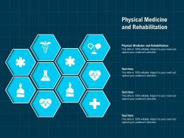 Physical Medicine And Rehabilitation Ppt Powerpoint Presentation Show Demonstration
