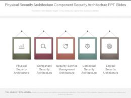 Physical Security Architecture Component Security Architecture Ppt Slides