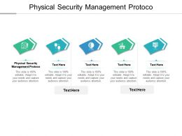 Physical Security Management Protocol Ppt Powerpoint Presentation Infographic Cpb