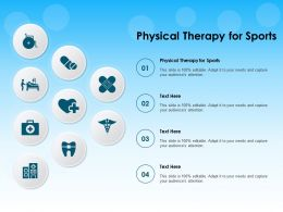Physical Therapy For Sports Ppt Powerpoint Presentation Icon Graphics Design