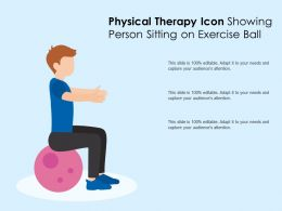 Physical Therapy Icon Showing Person Sitting On Exercise Ball