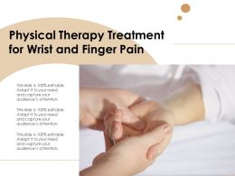 Physical Therapy Treatment For Wrist And Finger Pain