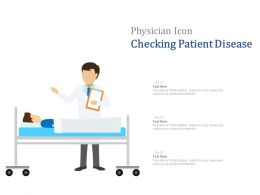 Physician Icon Checking Patient Disease