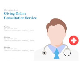 Physician Icon Giving Online Consultation Service