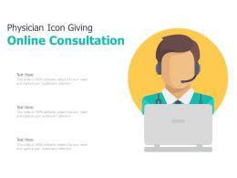 Physician Icon Giving Online Consultation