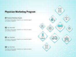 Physician Marketing Program Ppt Powerpoint Presentation Show Elements