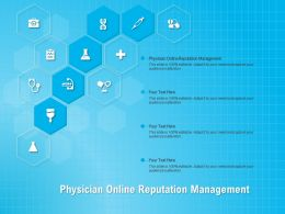 Physician Online Reputation Management Ppt Powerpoint Presentation Summary Ideas