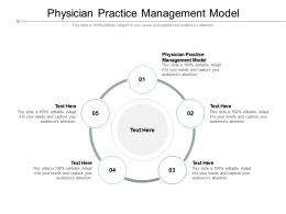 Physician Practice Management Model Ppt Powerpoint Presentation Pictures Show Cpb