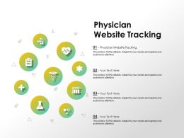 Physician Website Tracking Ppt Powerpoint Presentation Infographics Inspiration