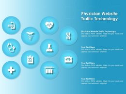 Physician Website Traffic Technology Ppt Powerpoint Presentation File Demonstration
