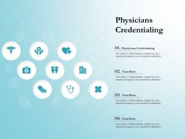 Physicians Credentialing Ppt Powerpoint Presentation Inspiration Portrait