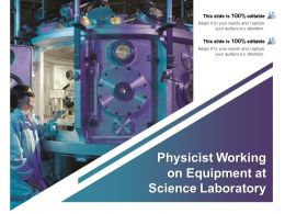 Physicist Working On Equipment At Science Laboratory