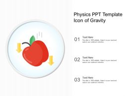 Physics Ppt Template Icon Of Gravity