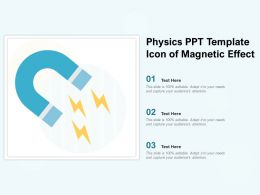 Physics Ppt Template Icon Of Magnetic Effect