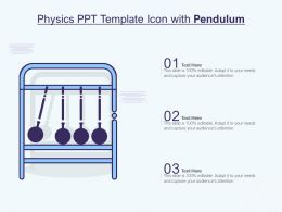 Physics Ppt Template Icon With Pendulum