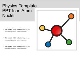 Physics Template Ppt Icon Atom Nuclei
