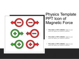 Physics Template Ppt Icon Of Magnetic Force