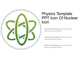 Physics Template Ppt Icon Of Nuclear Icon
