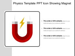 Physics Template Ppt Icon Showing Magnet