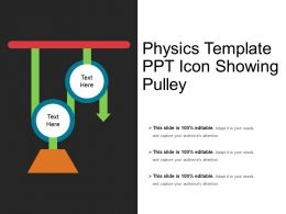 Physics Template Ppt Icon Showing Pulley