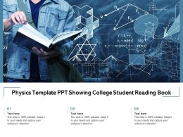 Physics Template Ppt Showing College Student Reading Book