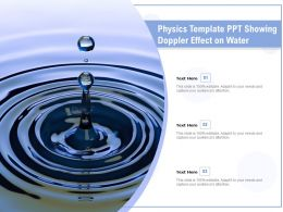 Physics Template Ppt Showing Doppler Effect On Water