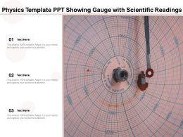 Physics Template Ppt Showing Gauge With Scientific Readings
