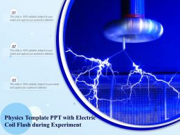 Physics Template Ppt With Electric Coil Flash During Experiment