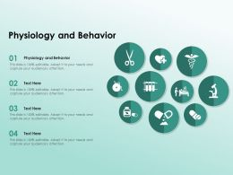 Physiology And Behavior Ppt Powerpoint Presentation Outline Brochure