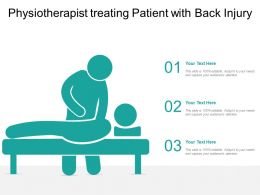 Physiotherapist Treating Patient With Back Injury
